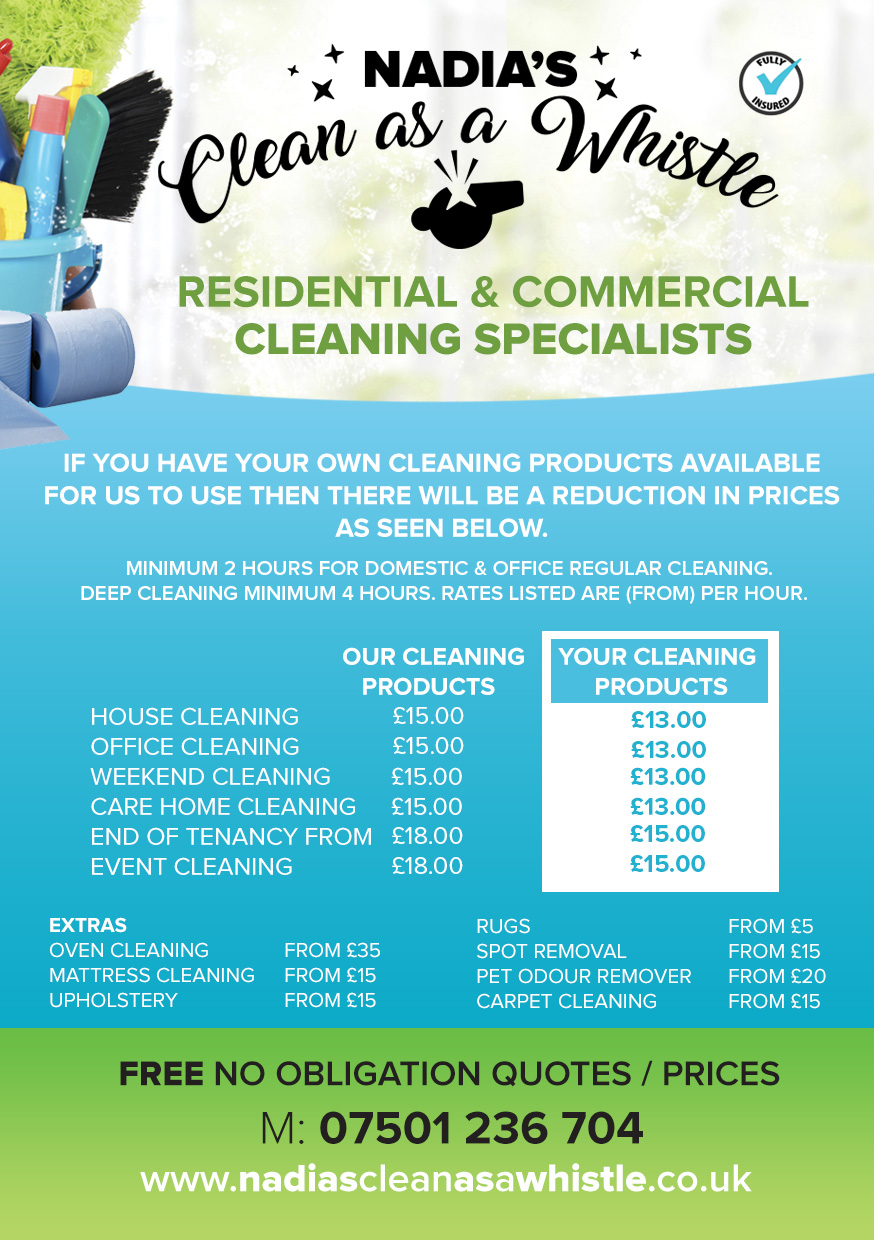 Home | Nadia\'s Clean as a Whistle | Residential and Commercial ...